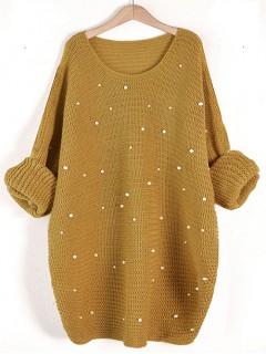 Sweter Perły Musztardowy