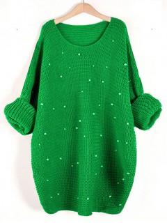 Sweter Perły Zielony