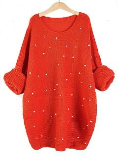 Sweter Perły Pomarańczowy