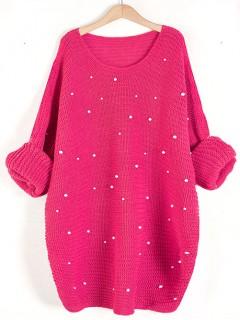 Sweter Perły Fuksja