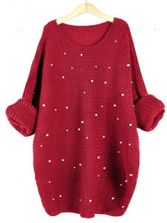 Sweter Perły Czerwony