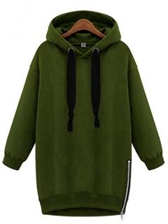 Bluza Basic Zip Oliwkowa