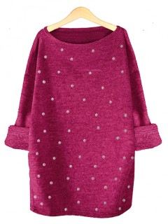 Sweter Perełki Fuksja