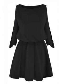 Sukienka Rozcięcia Czarna