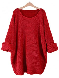 Sweter Oversize Czerwony