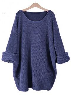 Sweter Nietoperz Granatowy