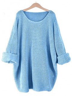 Sweter Oversize Niebieski