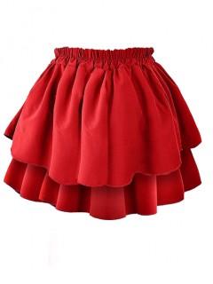 Spódnica Falbany Czerwona