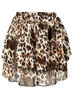 Spódnica Falbany Karmelowy Tygrys