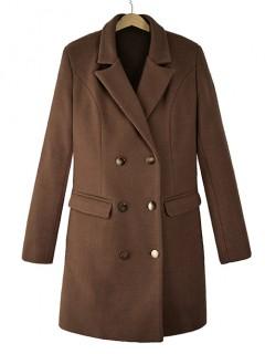 Płaszcz Premium Czekoladowy