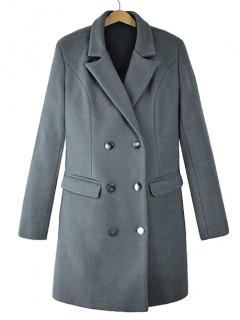 Płaszcz Premium Stalowy