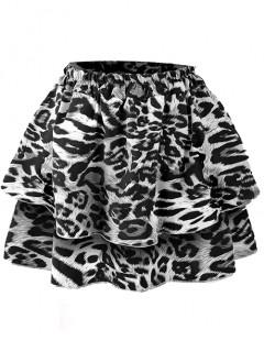 Spódnica Falbany Szary Tygrys