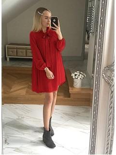 Sukienka Plisa Czerwona