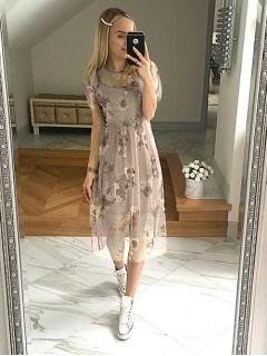 Sukienka Tiul Kwiaty Nude