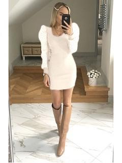 Sukienka Bufka Biała
