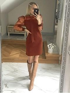 Sukienka Kokarda Ceglasta