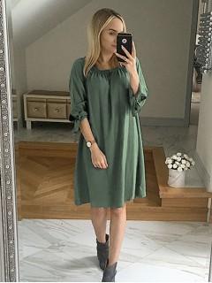 Sukienka Hiszpanka Premium Oliwkowa