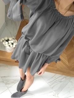 Sukienka Hiszpanka Premium Szara