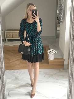 Sukienka Velvet Butelkowa