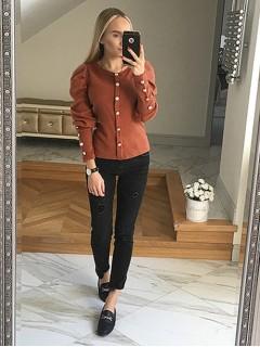 Bluzka Sweterek Ceglasty