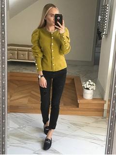 Bluzka Sweterek Musztardowy