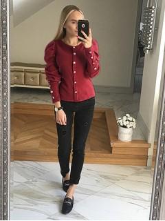 Bluzka Sweterek Bordowy