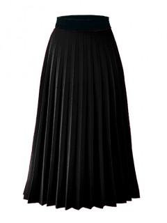 Spódnica Midi Plisowana Czarna