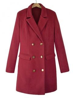 Płaszcz Premium Bordowy