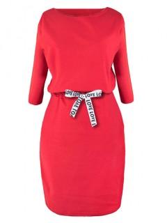 Sukienka Taśma Czerwona