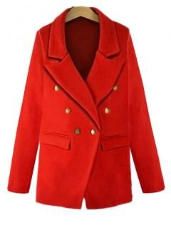 Płaszcz Marynarka Czerwony