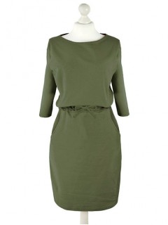 Sukienka Troczek Oliwkowa