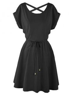 Sukienka Strapsy Czarna