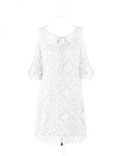 Sukienka Koronka Biała