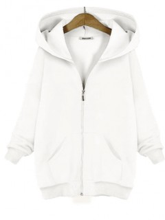 Bluza Basic Zamek Biała