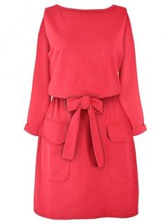 Sukienka Wiązana Czerwona