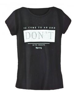 Koszulka Bluzka T-shirt Dont Czarna