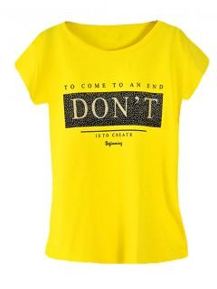 Koszulka Bluzka T-shirt Dont Żółta