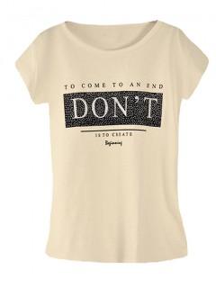 Koszulka Bluzka T-shirt Dont Piaskowa