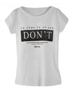 Koszulka Bluzka T-shirt Dont Szara
