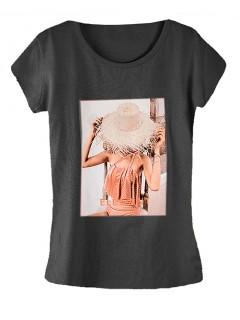 Koszulka Bluzka T-shirt Elegant Czarna