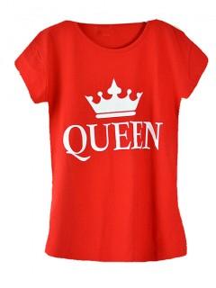 Koszulka Bluzka T-shirt Queen Czerwona