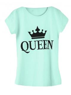 Koszulka Bluzka T-shirt Queen Miętowa