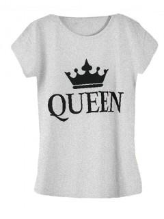 Koszulka Bluzka T-shirt Queen Szara