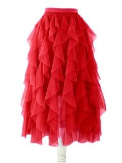 Spódnica Tiulowa Czerwona