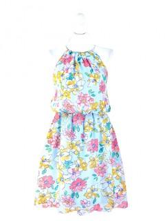 Sukienka Kwiaty Błękitna