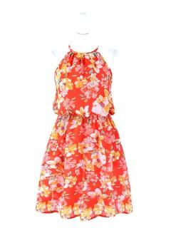 Sukienka Kwiaty Koralowa