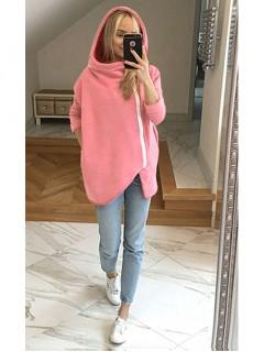 Bluza Asymetryczna Różowa