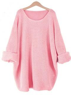 Sweter Nietoperz Różowy