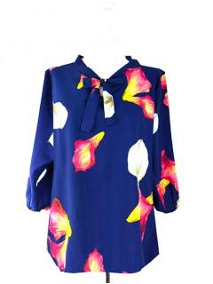 Bluzka Wiązana Kwiaty Wzory W17