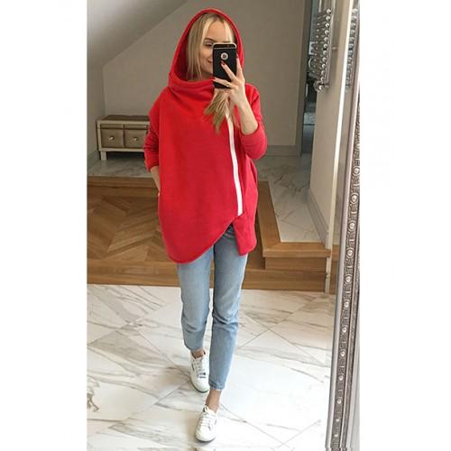 Bluza Asymetryczna Czerwona